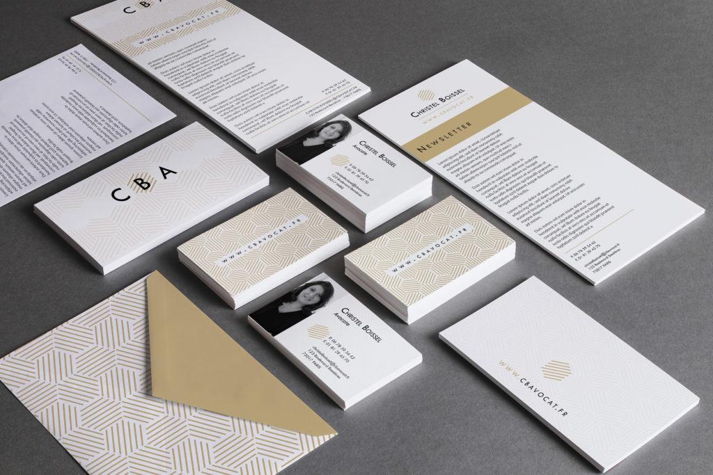 IDENTITE-CBA-papeterie - 1 Noiseau à Paris - Graphiste illustratrice Webdesigner Val de Marne