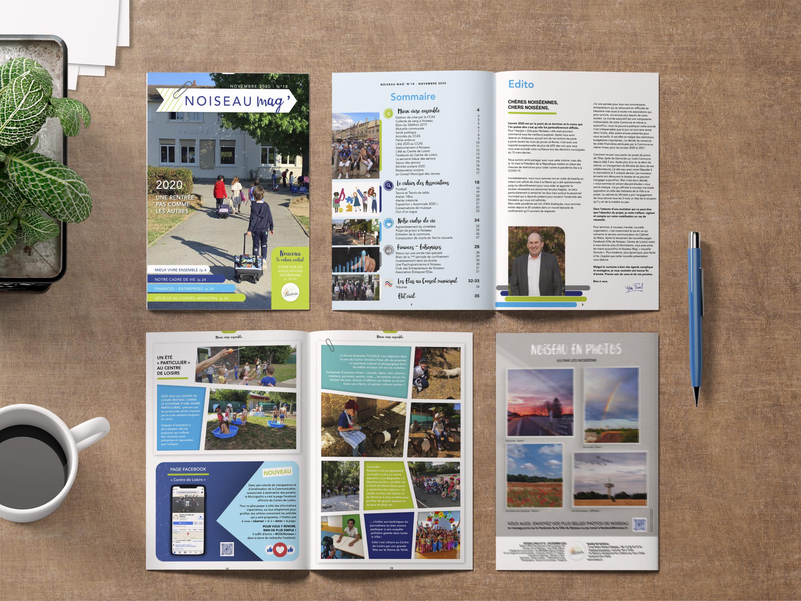 IDENTITE-NOISEAUMAG-Magazine - 1 Noiseau à Paris - Graphiste illustratrice Webdesigner Val de Marne